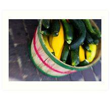 Bushel of Zucchini Art Print