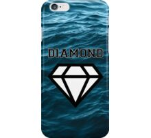 Diamond poster stormy sea  iPhone Case/Skin
