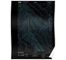 USGS Topo Map Oregon Lone Rock Creek 20110903 TM Inverted Poster