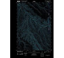 USGS Topo Map Oregon Lone Rock Creek 20110903 TM Inverted Photographic Print