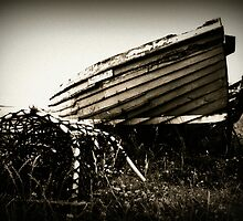 The Old Fishing Boat - Holy Island of Lindisfarne by Natalie Richardson