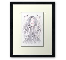 Shadowing Framed Print