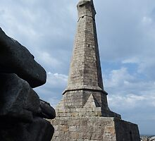 Looking up to the Basset Monument by DEB VINCENT