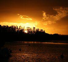 Ohmas Bay Sunset at Tuncurry by aussiebushstick
