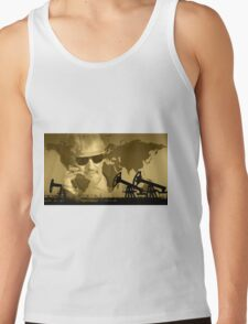 Oil and gas industry background. Tank Top
