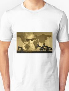 Oil and gas industry background. T-Shirt