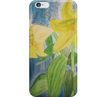 Lillies that make you smile iPhone Case/Skin