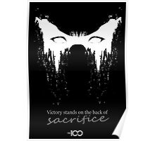Victory stands on the back of sacrifice Poster