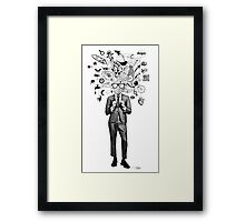 analogue thought in the time of digital mayhem Framed Print