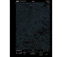 USGS Topo Map Oregon Gunter 20110824 TM Inverted Photographic Print