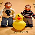 Sculpy Sam and Sculpy Ben and me... Maurice :) by Susana Weber