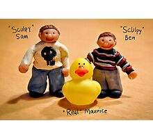 Sculpy Sam and Sculpy Ben and me... Maurice :) Photographic Print