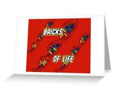 Bricks of Life Greeting Card