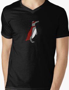 Penguin superhero Mens V-Neck T-Shirt