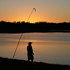 Fishing at Sundown, Lake Boondooma, QLD by aussiebushstick