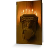 Corbels and Candles Greeting Card