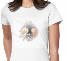 Space love. Womens Fitted T-Shirt