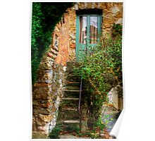 The Studio Steps at Montsalvat Poster