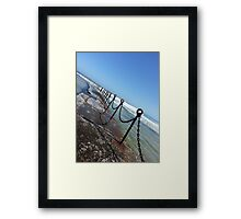 Newcastle Ocean Baths Chain Framed Print