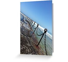Newcastle Ocean Baths Chain Greeting Card