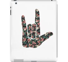 Floral Sign Language I Love You iPad Case/Skin