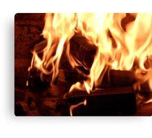 Open Fireplace Canvas Print