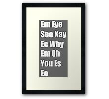 Phonetic Mickey Mouse Framed Print