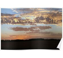 Sunset skies Poster
