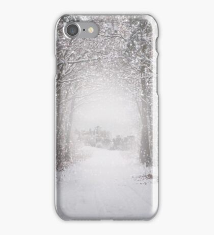 Castle in the snow iPhone Case/Skin