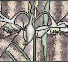 Stain Glass Photo 2 ~ Amazon Lily by Carmen Holly