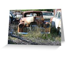 Peak Hill car wrecks - old Holden Greeting Card