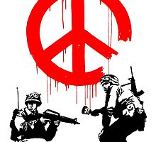 Banksy - Soldiers Painting Peace (CND Soldiers) by streetartfans