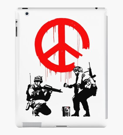 Banksy - Soldiers Painting Peace (CND Soldiers) iPad Case/Skin