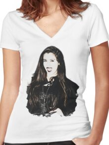 Lauren Jauregui Halloween Women's Fitted V-Neck T-Shirt