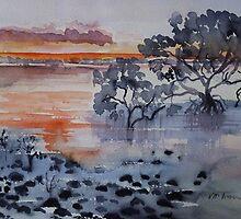 Mangroves Cleveland Bay Brisbane  by Virginia McGowan