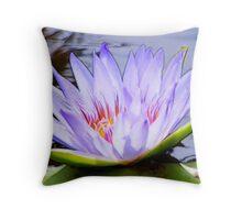 Lotus Flower - Fractalius Throw Pillow