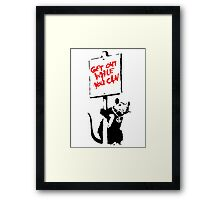Banksy - Get Out While You Can Framed Print