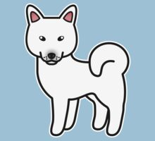 White Alaskan Klee Kai Cartoon Dog by destei