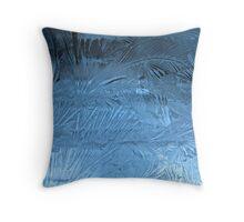 frozen feathers Throw Pillow