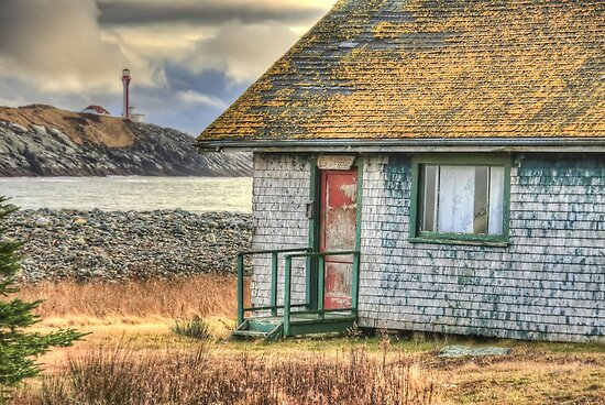 Schoolhouse and Lighthouse by Debbie  Roberts