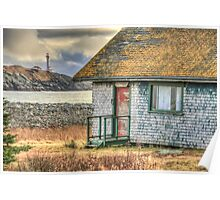 Schoolhouse and Lighthouse Poster