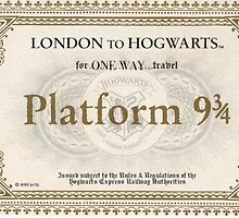 Hogwarts Express Ticket by Emme&Elle Italy