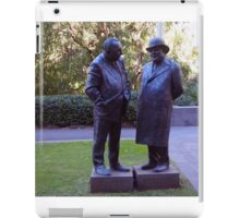 Stopped for a chat - 1 Treasury Place Melbourne Vic Australia iPad Case/Skin