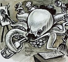 Multitasking Octopus by EMnovative