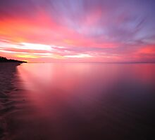 Sunset Across Dromana Beach (1 of 6), Victoria, Australia by Chris Jones