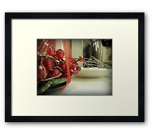 Kitchen at Christmas Framed Print