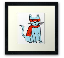 Superhero cat Framed Print