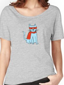 Superhero cat Women's Relaxed Fit T-Shirt