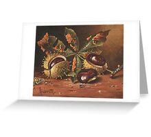 Three wild chestnut Greeting Card