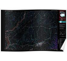 USGS Topo Map Washington Walla Walla 244513 1980 100000 Inverted Poster